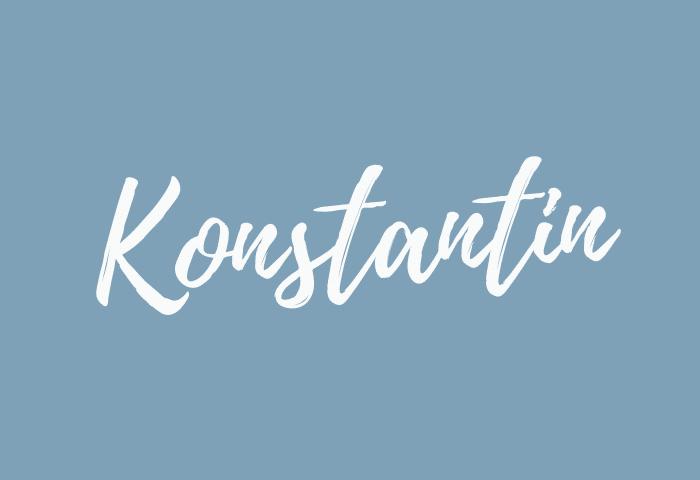 konstantin name meaning