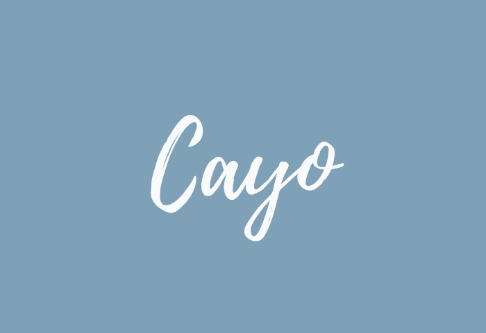 Cayo name meaning