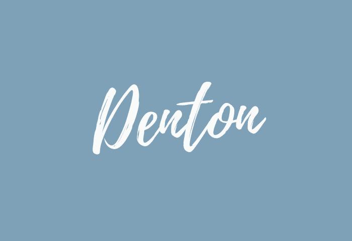 Denton name meaning