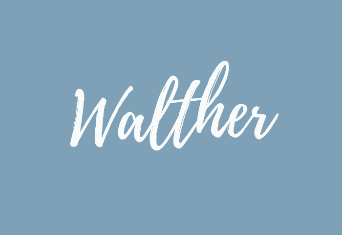 Walther name meaning