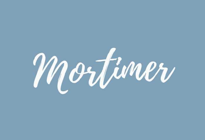 Mortimer name meaning