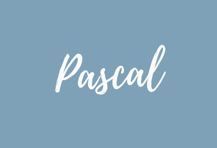 Pascal name meaning