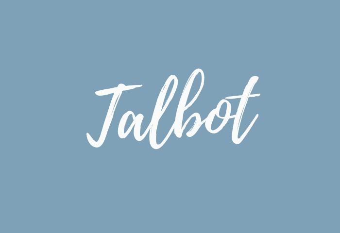 Talbot name meaning