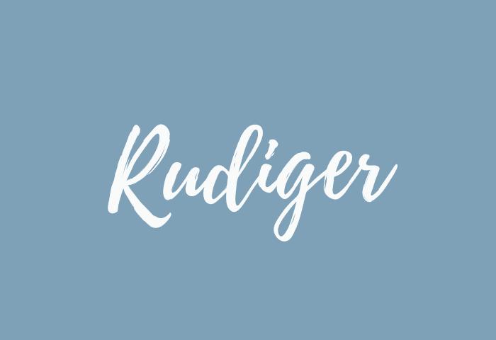 rudiger name meaning