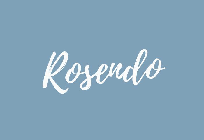 Rosendo name meaning