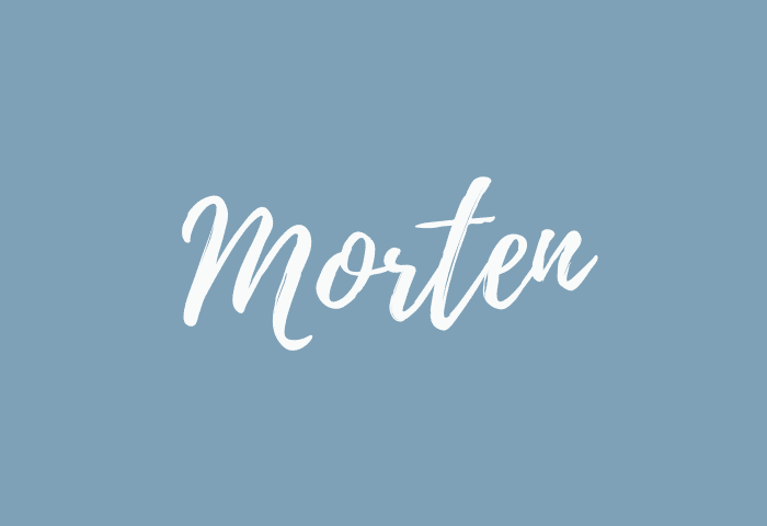 Morten name meaning