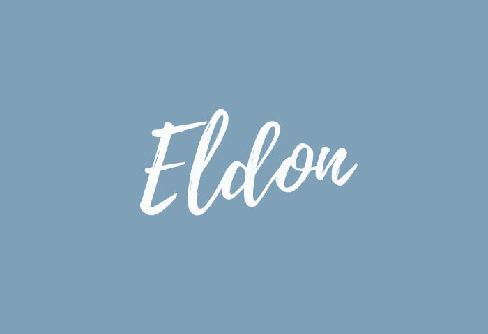 Eldon name meaning