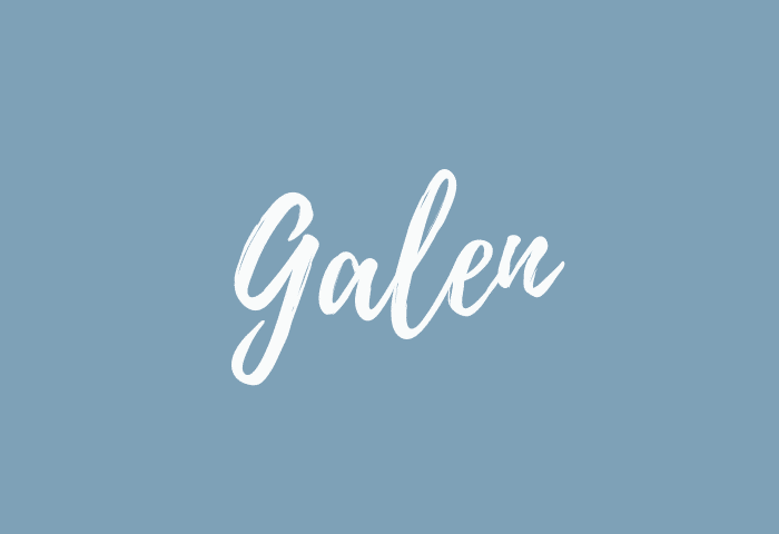 Galen name meaning