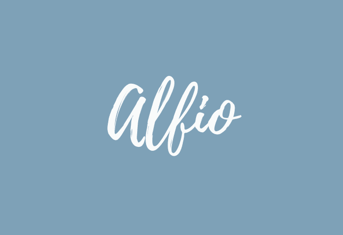 Alfio name meaning