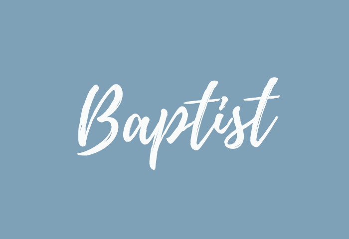 Baptist name meaning