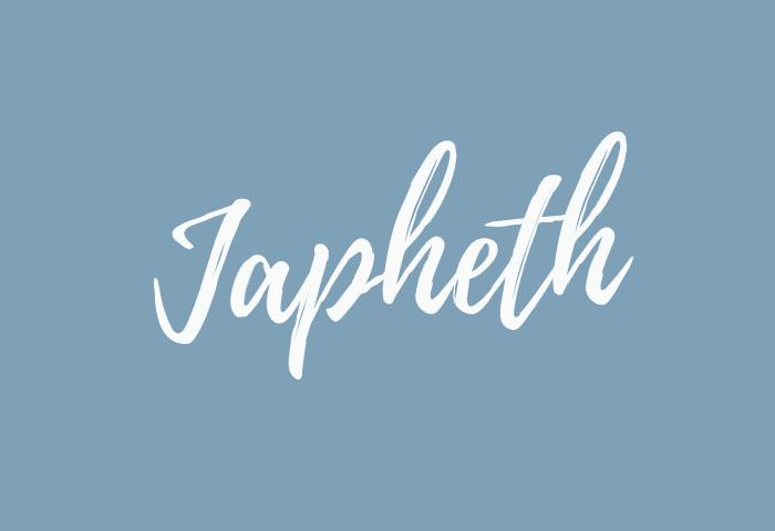 Japheth name meaning