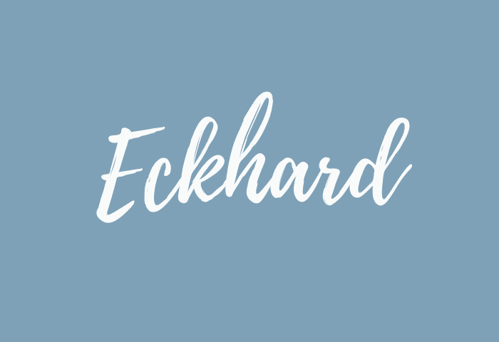 Eckhard name meaning