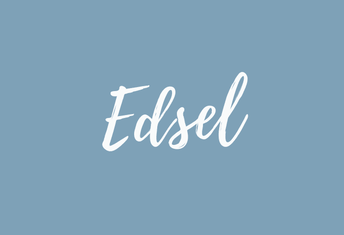 Edsel name meaning