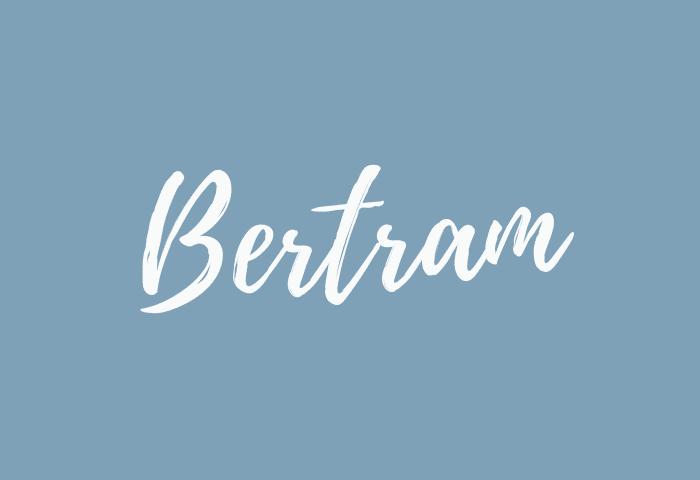 bertram name meaning