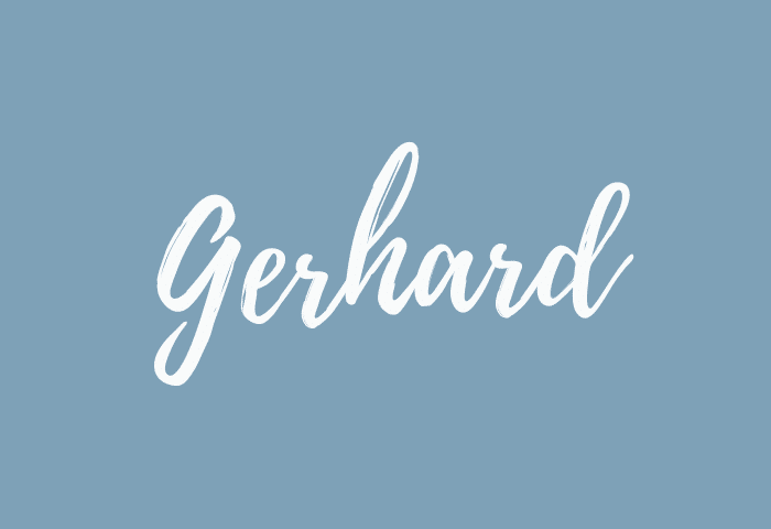 Gerhard name meaning