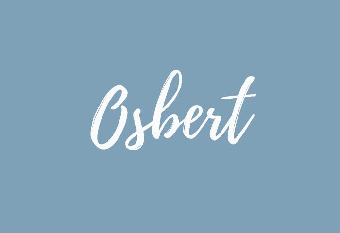 Osbert name meaning