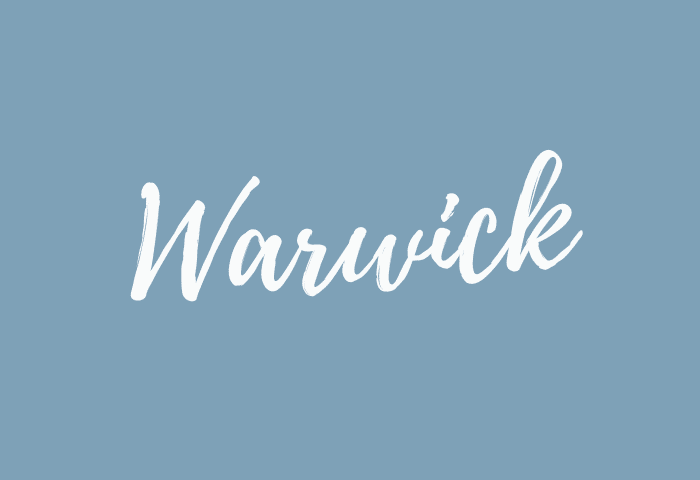 Warwick name meaning