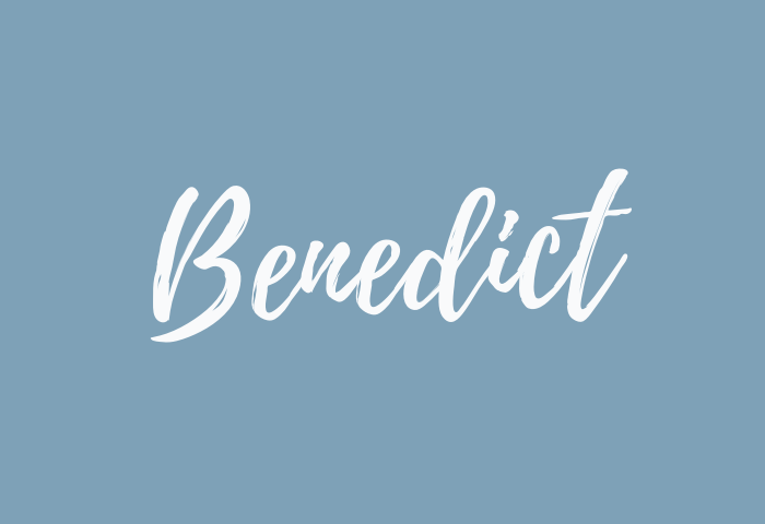 benedict name meaning
