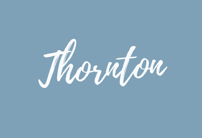 thornton name meaning