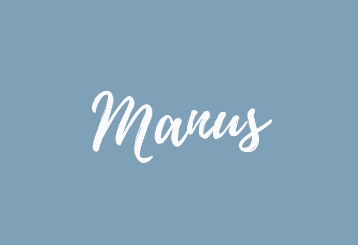 manus name meaning