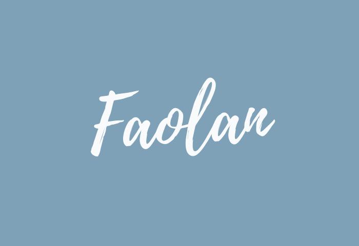 faolan name meaning