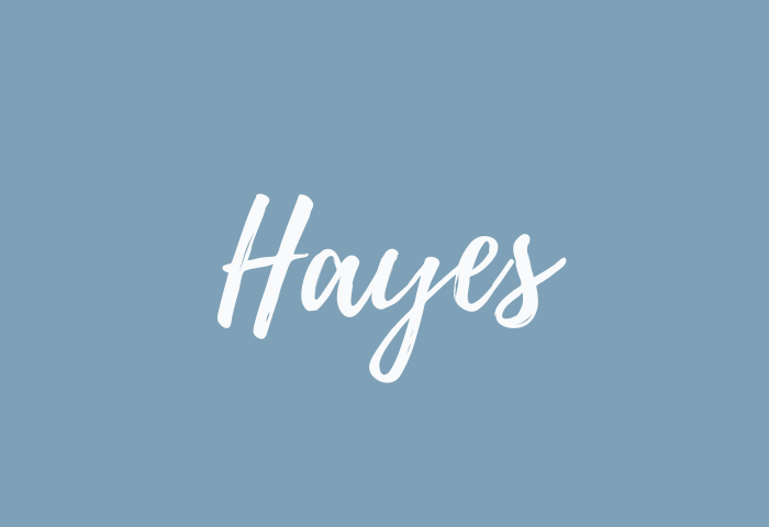 hayes name meaning