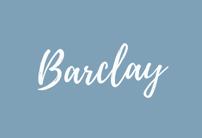 barclay name meaning