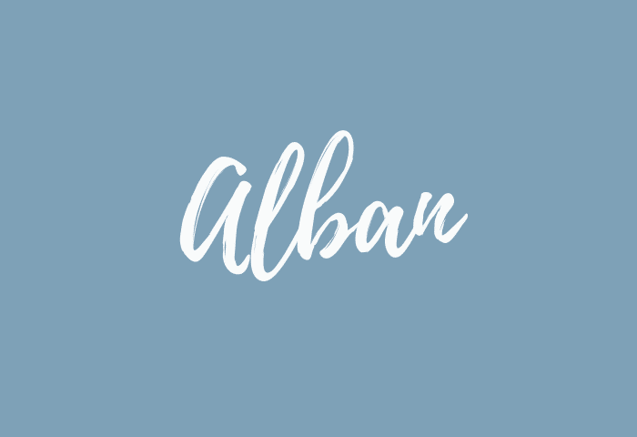 alban name meaning