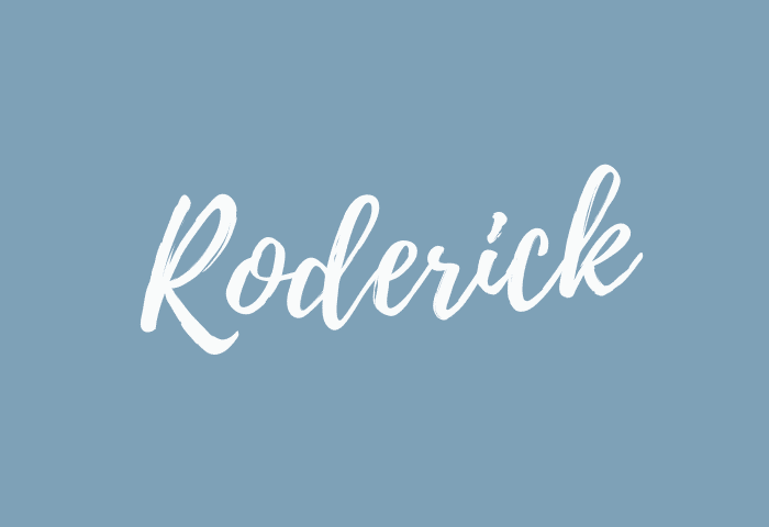 Roderick name meaning