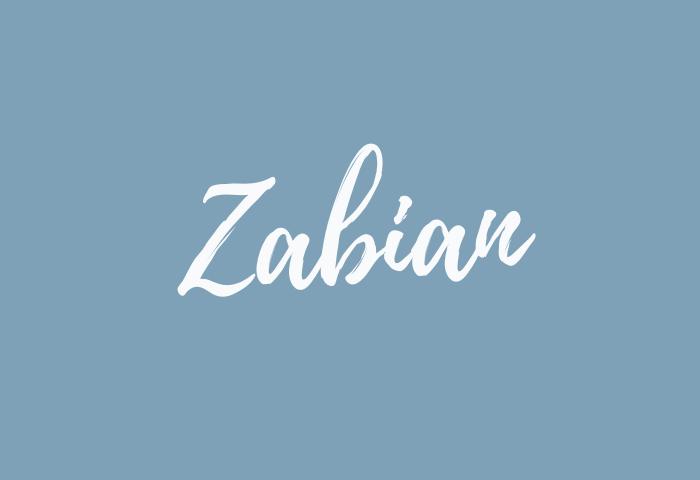 Zabian name meaning