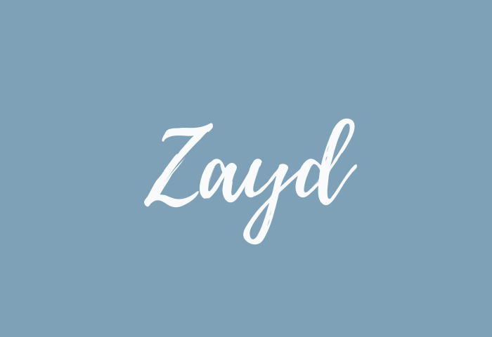 Zayd name meaning