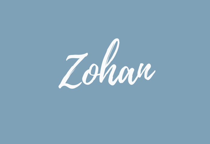 Zohan name meaning