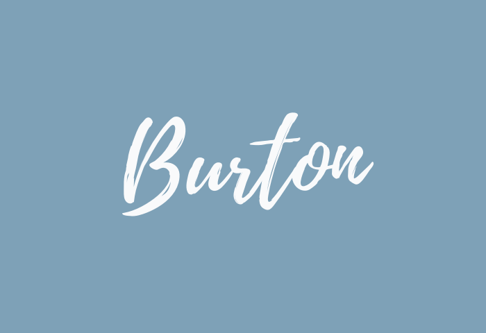 Burton Name Meaning
