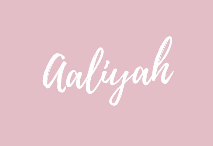 aaliyah name meaning