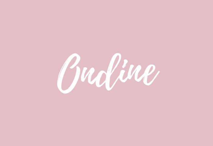 ondine name meaning