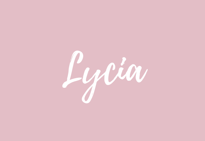 Lycia name meaning