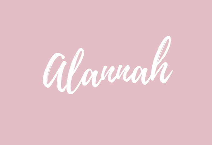 alannah name meaning