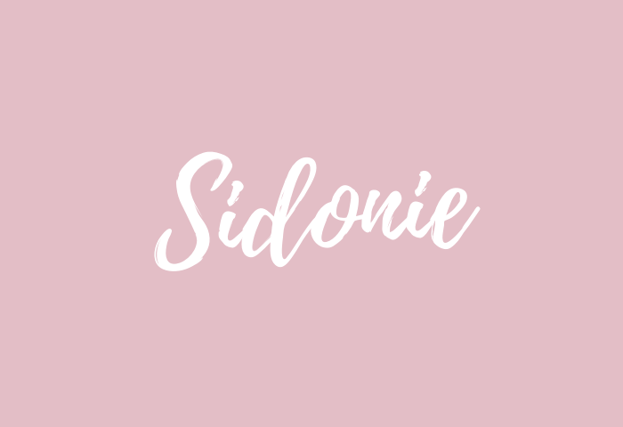 sidonie name meaning