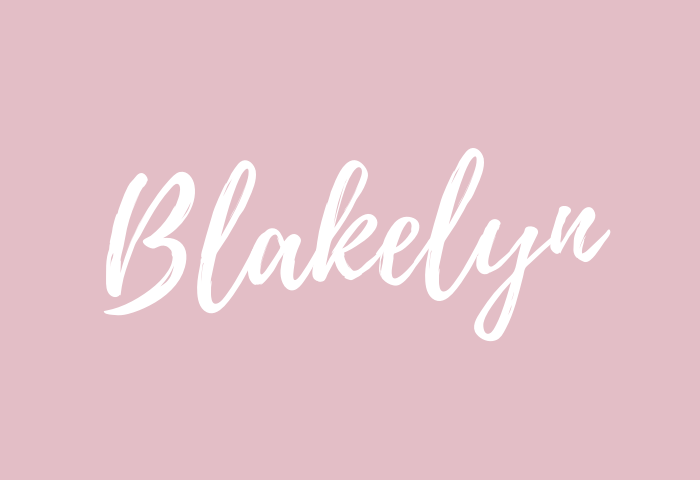 blakelyn name meaning