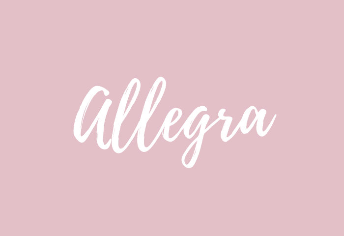 allegra name meaning