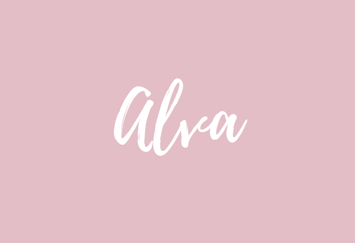 alva name meaning