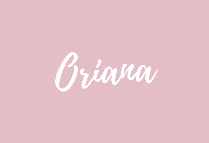 oriana name meaning