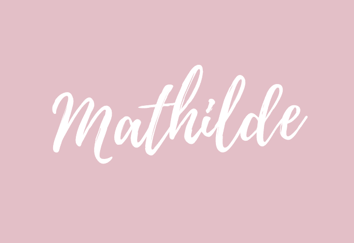 Mathilde name meaning