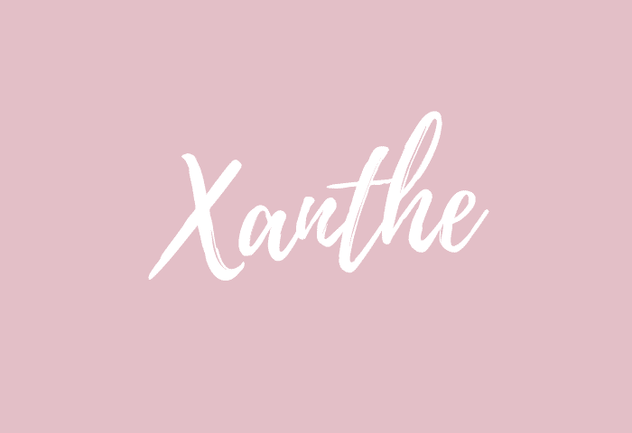 Xanthe name meaning