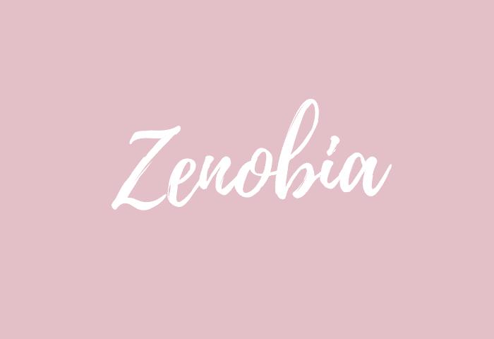 Zenobia name meaning