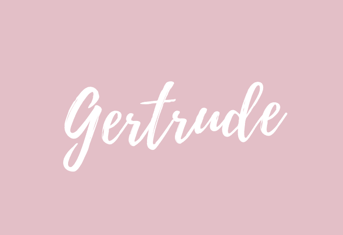 Gertrude name meaning