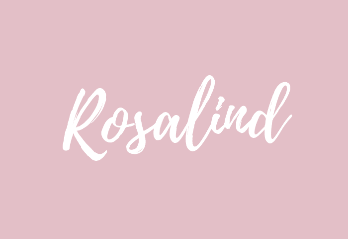 Rosalind name meaning