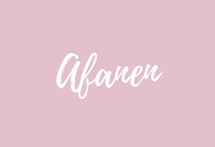Afanen name meaning
