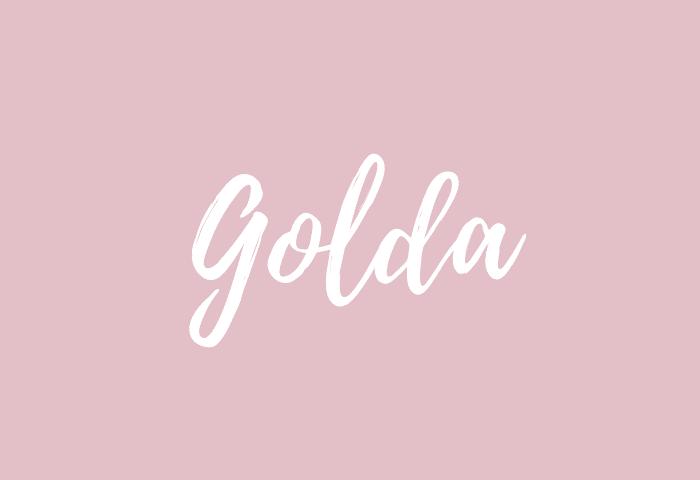 Golda name meaning