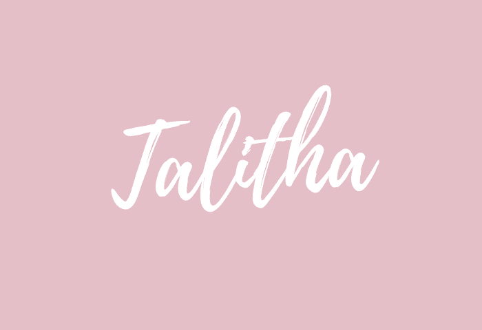 Talitha name meaning